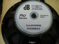 """dB Technologies ZYD385B-8-2  15"""" Woofer"""